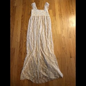 Free People lace maxi nightgown